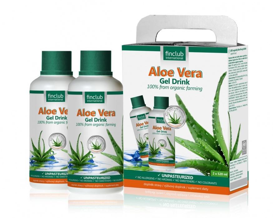 Aloe Vera gel drink 2 x 520 ml 100% organický gel z Aloe Vera Barbadensis