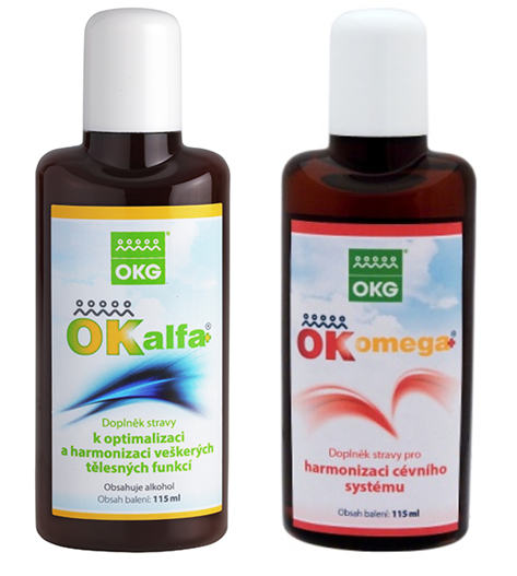 OK Alfa plus + OK Omega-3 Complete - Imunita + zdravé srdce